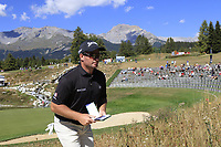 Ryan Fox (NZL) walks to the 14th tee during Sunday's Final Round 4 of the 2018 Omega European Masters, held at the Golf Club Crans-Sur-Sierre, Crans Montana, Switzerland. 9th September 2018.<br /> Picture: Eoin Clarke | Golffile<br /> <br /> <br /> All photos usage must carry mandatory copyright credit (&copy; Golffile | Eoin Clarke)
