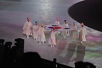 OLYMPIC GAMES: PYEONGCHANG: 09-02-2018, PyeongChang Olympic Stadium, Olympic Games, Opening Ceremony, Entrance of the Korean flag, ©photo Martin de Jong