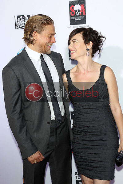 """Charlie Hunnam, Maggie Siff<br /> at the """"Sons of Anarchy"""" Season Six Premiere Screening, Dolby Theatre, Hollywood, CA 09-07-13<br /> David Edwards/Dailyceleb.com 818-249-4998"""