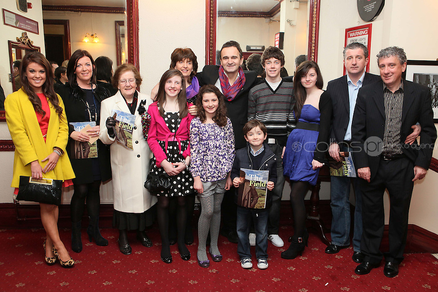 "NO REPRO FEE. 17/1/2010. The Field opening night. The Keane Family are pictured at the Olympia Theatre for the opening night of John B Keanes 'The Field"" Picture James Horan/Collins"