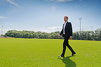 Pictured: Graham Potter walks on one of the training pitches. Monday 11 June 2018<br /> Re: Graham Potter is announced as the new manager for Swansea City AFC at the Fairwood Training Ground, south Wales, UK.