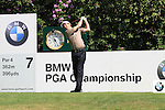Peter Lawrie teeing off on  the 7th.during round three of the BMW PGA championship 2010 at Wentworth golf club, Surrey England..Picture Fran Caffrey/Newsfile.ie