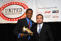 Luciano Emilio receives Budweiser golden boot award honors. DC United 4th Annual Awards Reception honoring player achievements for the 2007 season took place at the Ronald Reagan Building in Washington, DC on October 22, 2007.