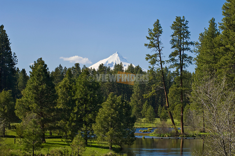Mount Jefferson and the headwaters of the Metolius River; Cascade Mountains, Oregon.