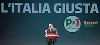Il segretario del Partito Democratico Pierluigi Bersani apre la campagna elettorale in vista delle prossime elezioni politiche, a Roma, 17 gennaio 2013..Center-left Italian Democratic Party (PD) leader Pierluigi Bersani opens the electoral campaign for the upcoming political election scheduled on February, in Rome, 17 January 2013..UPDATE IMAGES PRESS/Riccardo De Luca