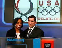 Sanya Richards at NASDAQ Market Site(Times Square)NYC.