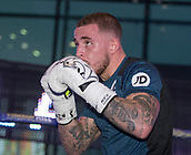 4th October 2017, National Football Museum, Manchester, England; Anthony Crolla and Ricky Burns public workout session; Sam Hyde during his training session