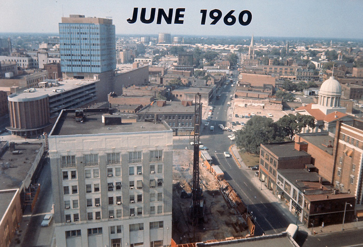 1960 June ..Historical..Macarthur Center.Downtown North (R-8)..PV3.LOOKING NORTH FROM 1ST & MERCHANTS BANK.MARITIME TOWER BUILT...NEG#.NRHA#..
