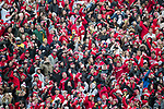 "Wisconsin Badger fans ""Jump Around"" during an NCAA College Big Ten Conference football game against the Michigan Wolverines Saturday, November 18, 2017, in Madison, Wis. The Badgers won 24-10. (Photo by David Stluka)"