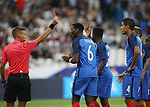 France's Raphael Varane gets sent off during the Friendly match at Stade De France Stadium, Paris Picture date 13th June 2017. Picture credit should read: David Klein/Sportimage