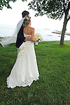 Plumed Serpent Wedding Dress, of Greenwich, Conneticut on Allison, a beautiful blonde bride at American Yacht Club