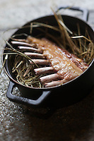 Europe/France/Rhone-Alpes/74/Haute-Savoie/ Chamonix: Carré d'agneau au foin, recette de Pierre Carrier du Restaurant: La Maison Carrier