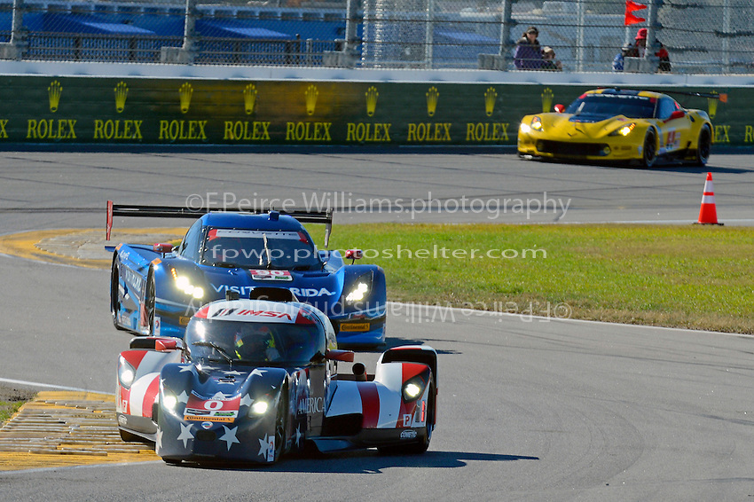 28-31 January, 2016, Daytona Beach, Florida USA<br /> 0, Elan, DeltaWing DWC13, P, Katherine Legge, Sean Rayhall, Andy Meyrick, Andreas Wirth, 90, Chevrolet, Corvette DP, P, Ryan Dalziel, Marc Goossens, Ryan Hunter-Reay and 4, Chevrolet, Corvette C7, GTLM, Oliver Gavin, Tommy Milner, Marcel Fassler<br /> &copy;2016, F. Peirce Williams