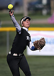 Western Nevada's Melanie Mecham makes a play against Salt Lake Community College at Edmonds Sports Complex in Carson City, Nev., on Friday, April 15, 2016. <br />Photo by Cathleen Allison