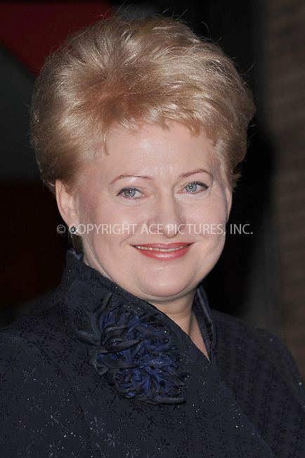 WWW.ACEPIXS.COM . . . . . .November 8, 2010...New York City... Dalia Grybauskaite attends  Glamour Magazine`s 20th Annual 2010 Women of the Year Awards  at Carnegie Hall  on November 8, 2010 in New York City....Please byline: KRISTIN CALLAHAN - ACEPIXS.COM.. . . . . . ..Ace Pictures, Inc: ..tel: (212) 243 8787 or (646) 769 0430..e-mail: info@acepixs.com..web: http://www.acepixs.com .