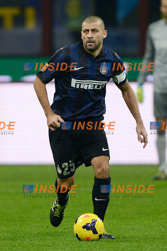 Walter Samuel Inter<br /> Milano 09-02-2014 Stadio Giuseppe Meazza - Football 2013/2014 Serie A. Inter - Sassuolo Foto Giuseppe Celeste / Insidefoto