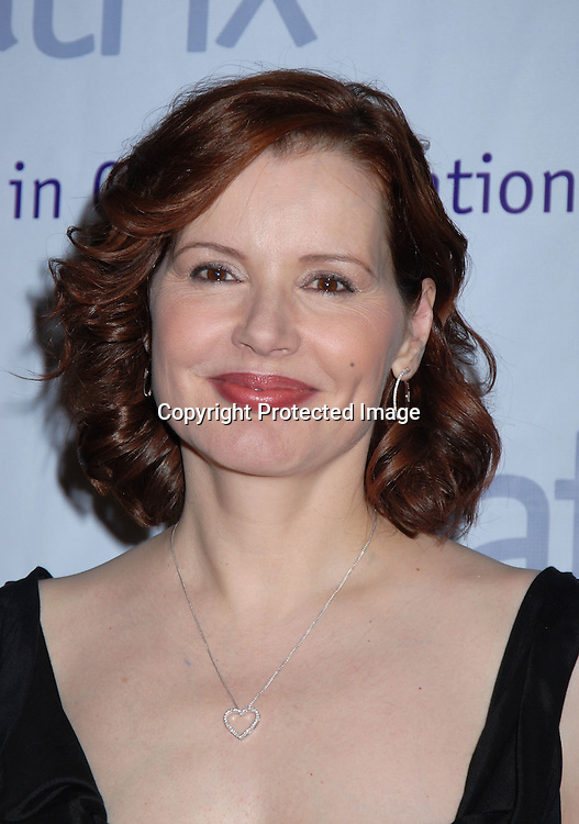 Geena Davis ..at the New York Women in Communications, Inc 2006 Matrix Awards Luncheon on April 3, 2006 at The Waldorf Astoria Hotel. ..Robin Platzer, Twin Images