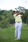 4th June 2017, Dublin, OH, USA;  Hideki Matsuyama of Japan hits an approach shot during the final round of The Memorial Tournament  at the Muirfield Village Golf Club in Dublin, OH.