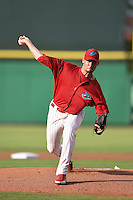 Clearwater Threshers pitcher Colin Kleven (16) delivers a pitch during a game against the Tampa Yankees on June 26, 2014 at Bright House Field in Clearwater, Florida.  Clearwater defeated Tampa 4-3.  (Mike Janes/Four Seam Images)