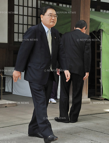 August 15, 2012, Tokyo, Japan - Japan's lower house member, Shizuka Kamei visits Yasukuni Shrine to pay his respects for the war dead on August 15, 2012 in Tokyo, Japan. (Photo by AFLO)