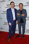 Director Matt Ratner (left) and Billy Crystal arrive at the world premiere of Standing Up, Falling Down at the 2019 Tribeca Film Festival presented by AT&T Thursday, April 25, 2019 at SVA Theater - 333 West 23 Street New York, NY.