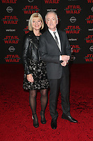 LOS ANGELES, CA - DECEMBER 9: Anthony Daniels, Christine Savage, at Premiere Of Disney Pictures And Lucasfilm's 'Star Wars: The Last Jedi' at Shrine Auditorium in Los Angeles, California on December 9, 2017. Credit: Faye Sadou/MediaPunch /NortePhoto.com NORTEPHOTOMEXICO
