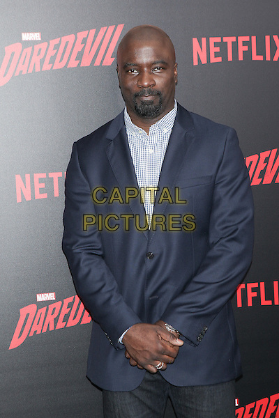 NEW YORK, NY - MARCH 10: Mike Colter at the 'Daredevil' season 2 premiere at AMC Loews Lincoln Square 13 theater on March 10, 2016 in New York City. <br /> CAP/MPI99<br /> &copy;MPI99/Capital Pictures