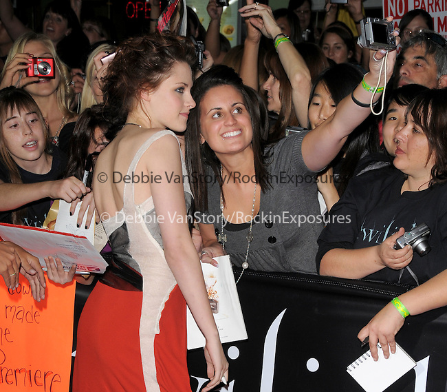"Kristen Stewart at Summit Entertainment's highly anticipated Premiere of ""Twilight"" held at The Mann's Village Theatre in Westwood, California on November 17,2008                                                                     Copyright 2008 Debbie VanStory/RockinExposures"