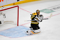 June 6, 2019: Boston Bruins goaltender Tuukka Rask (40) makes a save during game 5 of the NHL Stanley Cup Finals between the St Louis Blues and the Boston Bruins held at TD Garden, in Boston, Mass. The Blues defeat the Bruins 2-1 in regulation time. Eric Canha/CSM