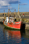 Trawler, Howth harbour Dublin, Carraig Bui (yellow rock)