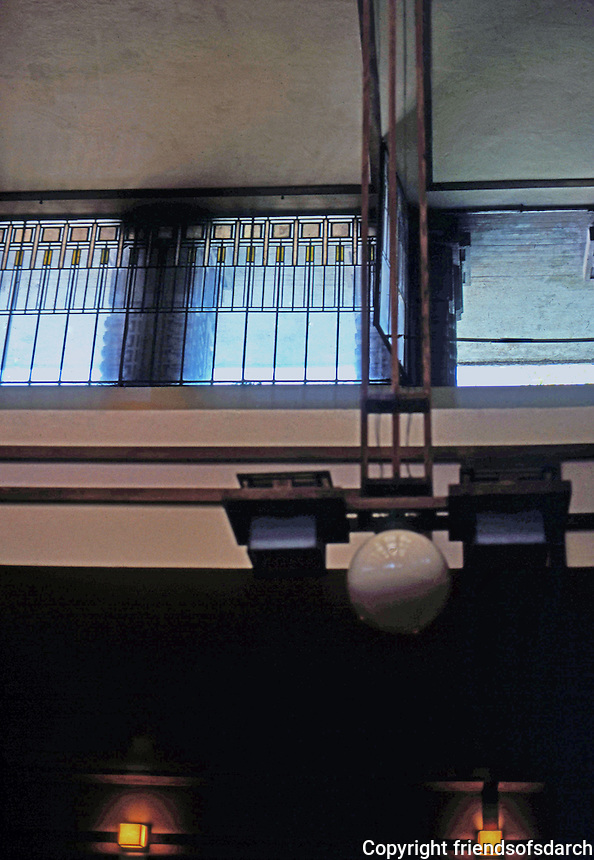 F.L. Wright: Unity Temple, Interior.  Photo '76.