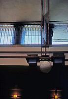 F.L. Wright: Unity Temple, Interior.  Photo '76.