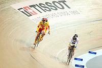 Picture by Alex Whitehead/SWpix.com - 02/03/2017 - Cycling - UCI Para-cycling Track World Championships - Velo Sports Center, Los Angeles, USA - Men's B 4 km Individual Pursuit final.<br /> Gold - Spain's AVILA RODRIGUEZ Ignacio and FONT BERTOLI Joan<br /> branding