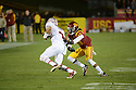 USC Trojan vs Stanford Cardinal Saturday, November 16, 2013 at the Los Angeles Memorial Coliseum. The Trojans beat the Cardinal 20-17. Photo by ©Jon SooHoo/2013
