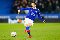 4th March 2020; King Power Stadium, Leicester, Midlands, England; English FA Cup Football, Leicester City versus Birmingham City; Ben Chilwell of Leicester City plays the ball through into attack