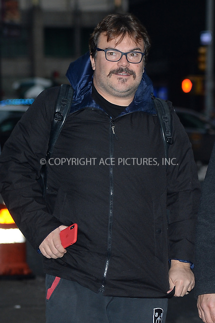 www.acepixs.com<br /> January 10, 2018 New York City<br /> <br /> Jack Black made an appearance on Build Series on January 10, 2018 in New York City.<br /> <br /> Credit: Kristin Callahan/ACE Pictures<br /> <br /> <br /> Tel: 646 769 0430<br /> e-mail: info@acepixs.com
