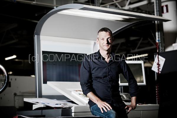 Stefaan Moeyaert, CEO of the Captains of Printing company (Belgium, 09/10/2015)