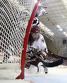 Raylen Dziengelewski (UNH - 15), Danielle Welch (BC - 17) - The Boston College Eagles and the visiting University of New Hampshire Wildcats played to a scoreless tie in BC's senior game on Saturday, February 19, 2011, at Conte Forum in Chestnut Hill, Massachusetts.