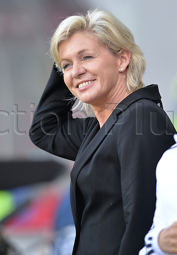 17.07.2013. Kalmar, Sweden.  German coach Silvia Neid gestures prior to the UEFA Women's EURO 2013 Group B soccer match between Germany and Norway at the Kalmar Arena in Kalmar, Sweden, 17 July 2013.