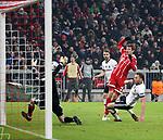 20.02.2018, Allianz Arena, München, GER, UEFA CL, FC Bayern München (GER) vs Besiktas Istanbul (TR) , im Bild<br />Thomas Müller (München) erzielt das Tor zum 3:0<br /><br /><br /> Foto © nordphoto / Bratic