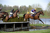 Scuba Steve takes the water jump in the Alfred Hunt.