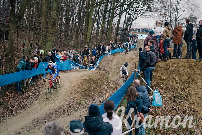 STYBAR Zdeněk (CZE/Deceuninck-Quick Step) coming down the dirt jump descent<br /> <br /> GP Sven Nys (BEL) 2019<br /> DVV Trofee<br /> ©kramon
