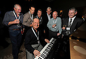 drinks reception, Oil and Gas Decommissioning Conference, Dunblane Hydro - l to r - Eddie Grant tries (and fails) to entertain on the piano, all in good fun though! - 6.10.10 - picture by Donald MacLeod - mobile 07702 319 738 - clanmacleod@btinternet.com - www.donald-macleod.com