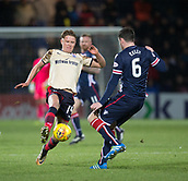 2nd December 2017, Global Energy Stadium, Dingwall, Scotland; Scottish Premiership football, Ross County versus Dundee; Dundee's Mark O'Hara takes on Ross County's Sean Kelly