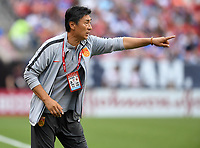 Cleveland, Ohio - Tuesday June 12, 2018: Jia Xiuquan during an international friendly match between the women's national teams of the United States (USA) and China PR (CHN) at FirstEnergy Stadium.