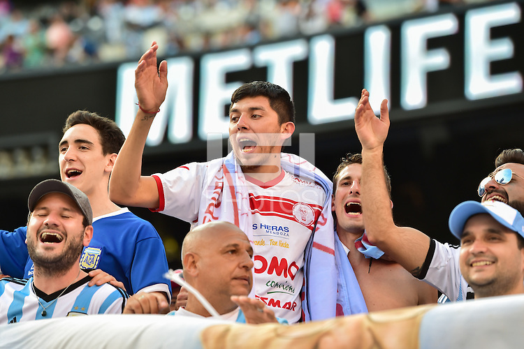 East Rutherford, NJ - Sunday June 26, 2016: Fans prior to a Copa America Centenario finals match between Argentina (ARG) and Chile (CHI) at MetLife Stadium.