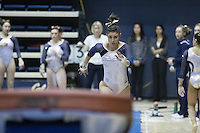 BERKELEY, CA - January 28, 2017: Cal Bears Women's Gymnastics team vs. the Arizona State Sun Devils at Haas Pavilion. Final score, Cal Bears 196.025, Arizona State Sun Devils 193.575.