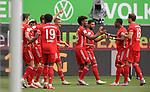 27.06.2020, Fussball: nph00001 1. Bundesliga 2019/2020, 34. Spieltag, VfL Wolfsburg - FC Bayern Muenchen, in der Volkswagen-Arena Wolfsburg. Jubel FC Bayern MŸnchen zum Tor zum 0:1<br /><br />Foto: Bernd Feil/M.i.S./ /Pool/nordphoto<br /><br />Nur fŸr journalistische Zwecke! Only for editorial use! <br /><br />GemŠ§ den Vorgaben der DFL Deutsche Fussball: nph00001 Liga ist es untersagt, in dem Stadion und/oder vom Spiel angefertigte Fotoaufnahmen in Form von Sequenzbildern und/oder videoŠhnlichen Fotostrecken zu verwerten bzw. verwerten zu lassen. DFL regulations prohibit any use of photographs as image sequences and/or quasi-video.    <br /><br />National and international NewsAgencies OUT.