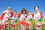Sean Cronin, Éanna Murray, Aedín Dineen, Demi O'Connor and Doireann O'Neill having fun at the Castlegregory Cúl Camps last week.