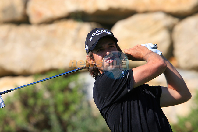 Aaron Baddeley (AUS) tees off on the 6th tee during the morning session on Day 3 of the Volvo World Match Play Championship in Finca Cortesin, Casares, Spain, 21st May 2011. (Photo Eoin Clarke/Golffile 2011)
